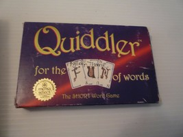 "Vintage 1998 ""Quiddler for the FUN of Words Card Game The Short Word Game - $5.94"