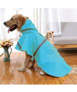 NACOCO Large Dog Raincoat Adjustable Pet Water Proof Clothes Lightweight... - $19.79