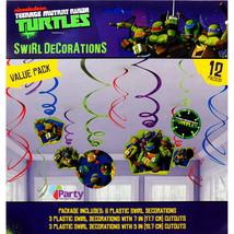TMNT Teenage Mutant Ninja Turtle Swirl Hanging Decorations 12 Pc Party S... - $4.93