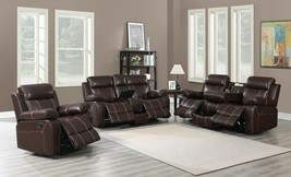 Transitional 3-Piece Reclining Motion Sofa Collection Loveseat & Recline... - $1,899.99