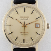 Longines 10k Gold Filled Five Star Admiral Automatic Watch w/ Leather Band - $841.49
