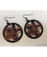 Earrings steampunk antq copper  1  49  6 thumbtall