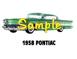 1958 Pontiac 'M' Cars Sales Service Dealer T-shirt  Decal Signs - $14.95+