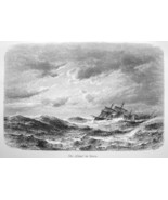 AUSTRIAN DIPLOMAT on Sailship China Pacific Ocean Storm  - 1882 Wood Eng... - $18.36