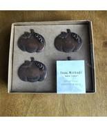 Isaac Mizrahi Napkin Rings Pumpkins set of 4 Fall Decor Holidays Thanksg... - $24.75