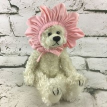 Vintage 90's Ty Teddy Bear Plush With Pink Flower Head Piece Jointed Stu... - $9.89