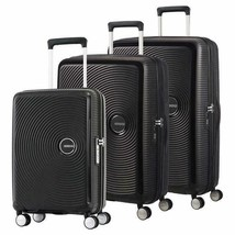 American Tourister Curio Luggage Black 3-Piece Hard-Sided Spinner Wheels - $268.99