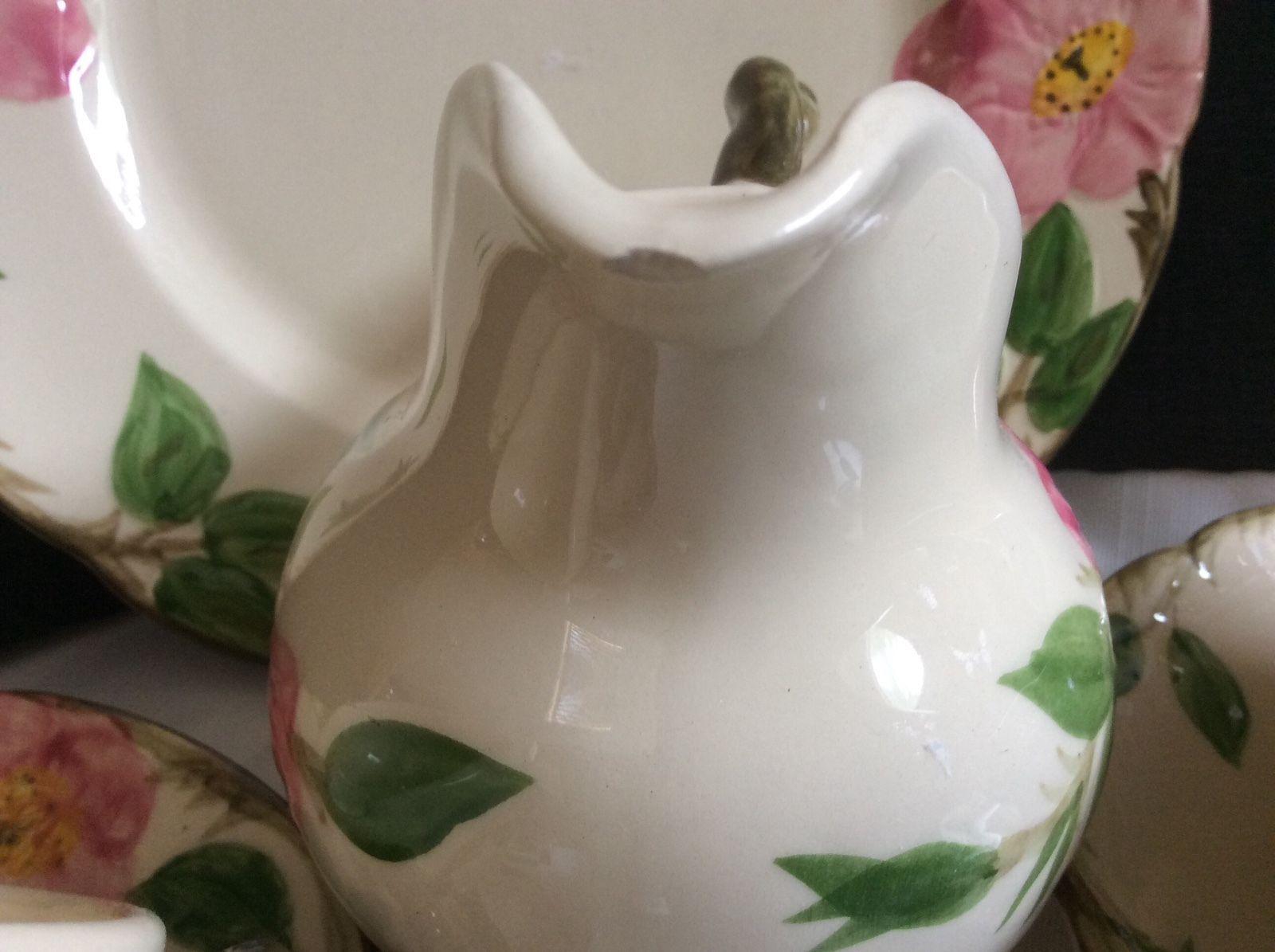Lot 6 pieces Franciscan Desert Rose Pitcher Creamer cups saucers salad plate