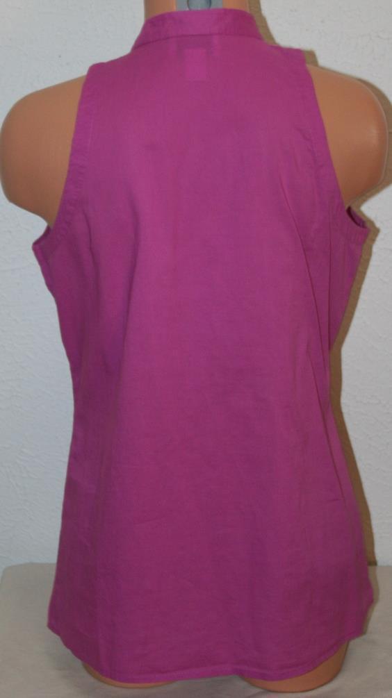 "ANN TAYLOR LOFT Small Ruffled Mauve Tank Top Shirt Sleeveless Chest: 38"" Womens"
