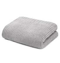 Kashwere Waffle Weave Textured Light Grey Throw Blanket - $175.00