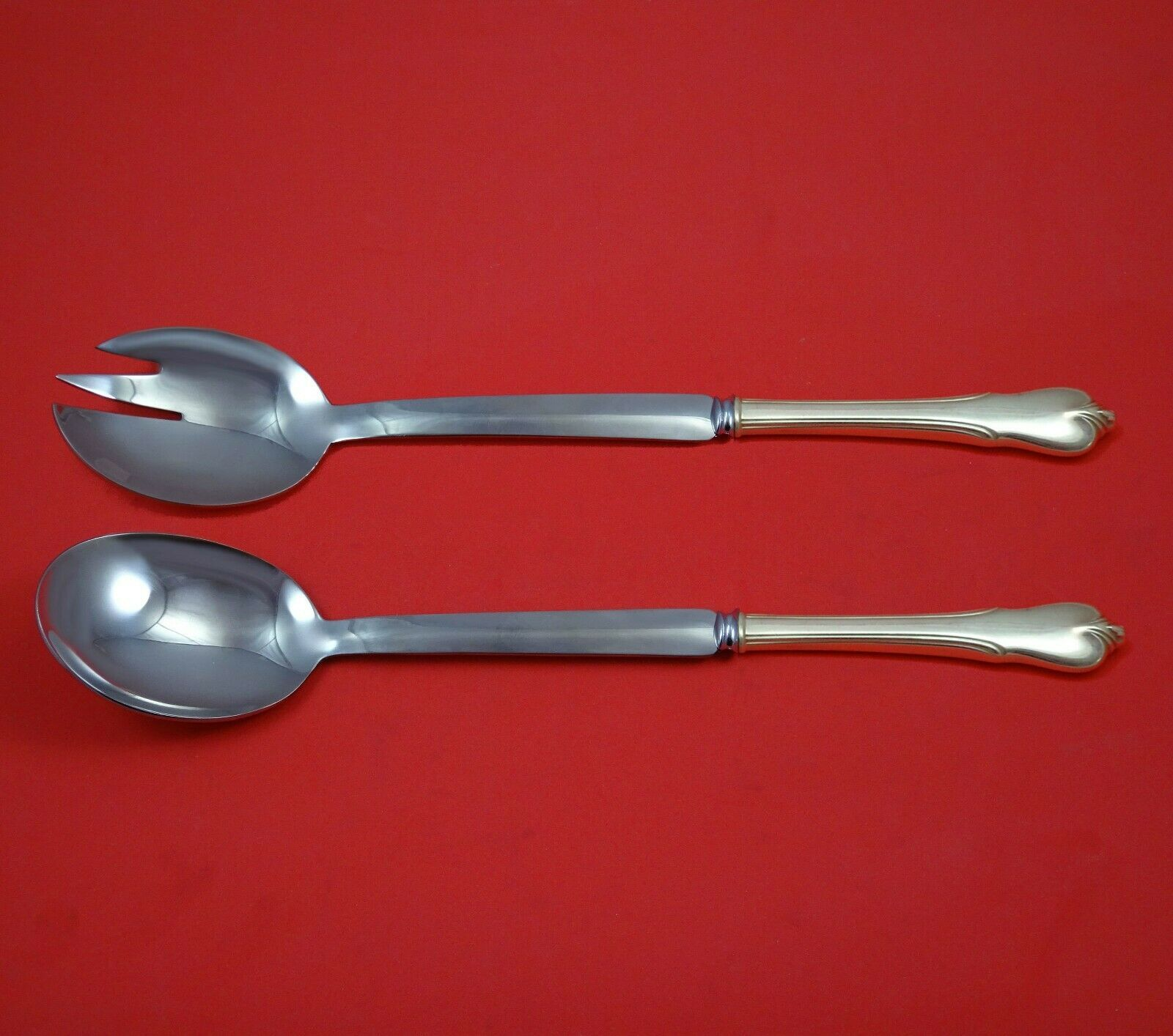 Primary image for Grand Colonial by Wallace Sterling Silver Salad Serving Set Modern Custom Made