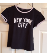 T-Shirt New York City Small Medium Black White 100% Cotton - $6.99