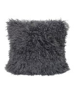 Fennco Styles Luxury Genuine Mongolian Lamb Fur Down Filled Decorative T... - $84.14
