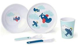 Reed & Barton Airplane Child's Dinnerware Set 5 Piece Zoom Zoom Melamine... - $59.40