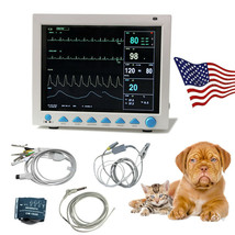 VET machine Vital Signs Cardiac Monitor Veterinary Patient Monitor 7 Par... - $494.01