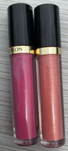 Revlon Super Lustrous Lip Gloss 235 Pink Pop 245 Peach Makeup Lot Of 2 New - $12.59