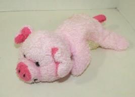 Bath & Body Works Scrubby Buddies Wiggly Plush pink pig loofah stuffed b... - $6.92