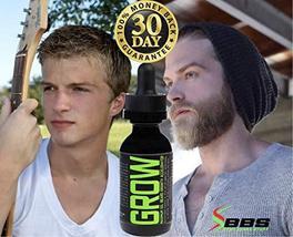 GROW Maximum XXL Beard Growth & Mustache Accelerator - #1 Formula Serum Oil Worl image 5