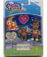 Caring Corners Baby Buds Girl with Teddy Bear & Cats ~Nighty Night Figures - $59.95
