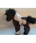 """Douglas Brown and White 9"""" Tall By 10"""" Long Horse Plush Stuffed Animal Toy  - $19.79"""