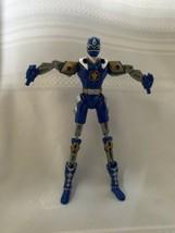 Bandai 2003 Dino Thunder Blue Ranger Power Rangers Extended Limbs Stretch Figure - $10.39