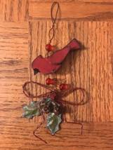 Handmade Cardinal Chistmas Ornament - $8.79