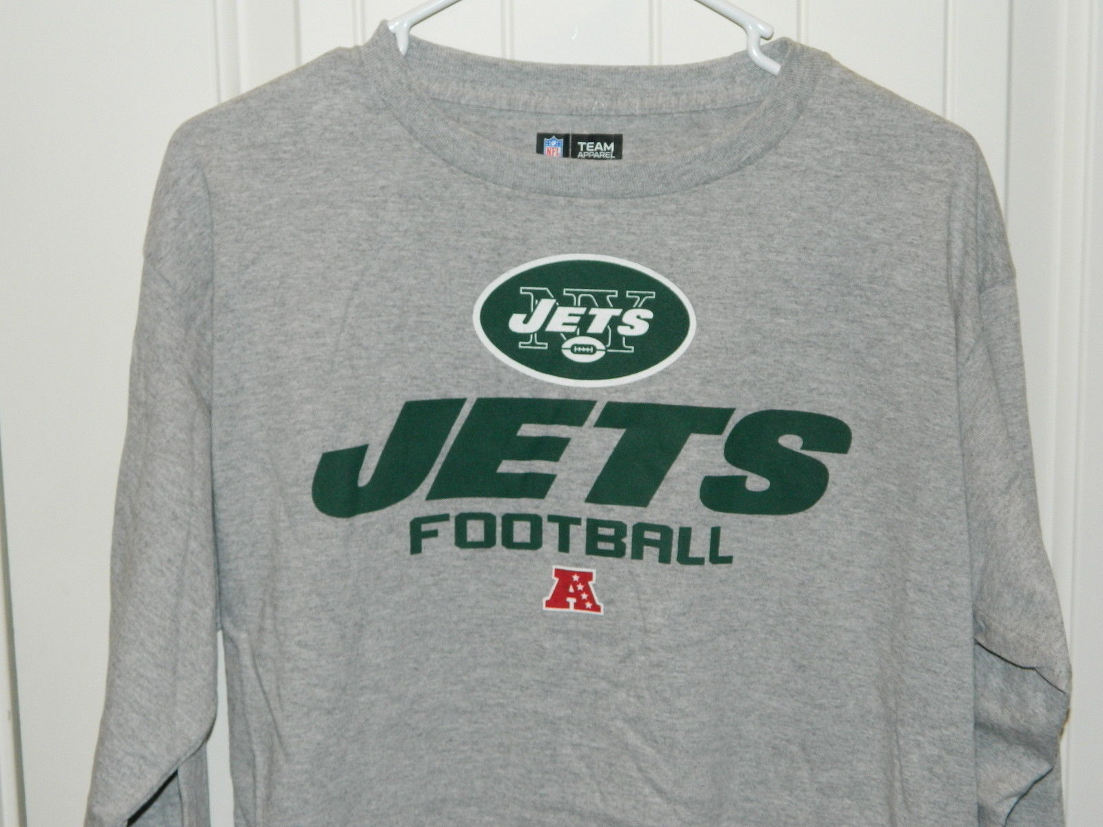 Primary image for Team New York Jets NFL Team Apparel Shirt Long sleeves Gray Mens Size Medium NWT