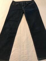 Calvin Klein Women's Jeans Dark Wash Stretch Skinny Jean Size 6P Or 28 X 28 - $34.61