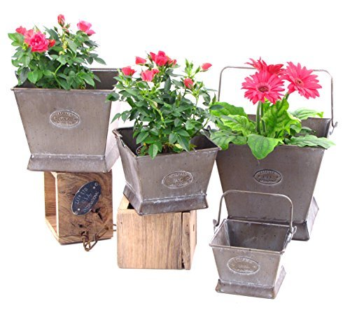 Primary image for Galvanized Flower Pots (Set of 4)