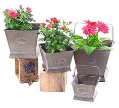 Galvanized Flower Pots (Set of 4) - $79.95