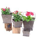 Galvanized Flower Pots (Set of 4) - £63.89 GBP