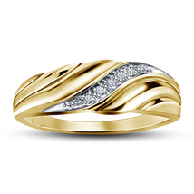 Wedding Engagement Men's Band Ring In 925 Silver Yellow Gold Plated Roun... - $74.99
