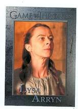 Game of Thrones trading card #56 2012 Lysa Arryn - $4.00