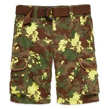 Arizona Belted Cargo Shorts Boys 12R Msrp $38.00 New With Tags - $11.99