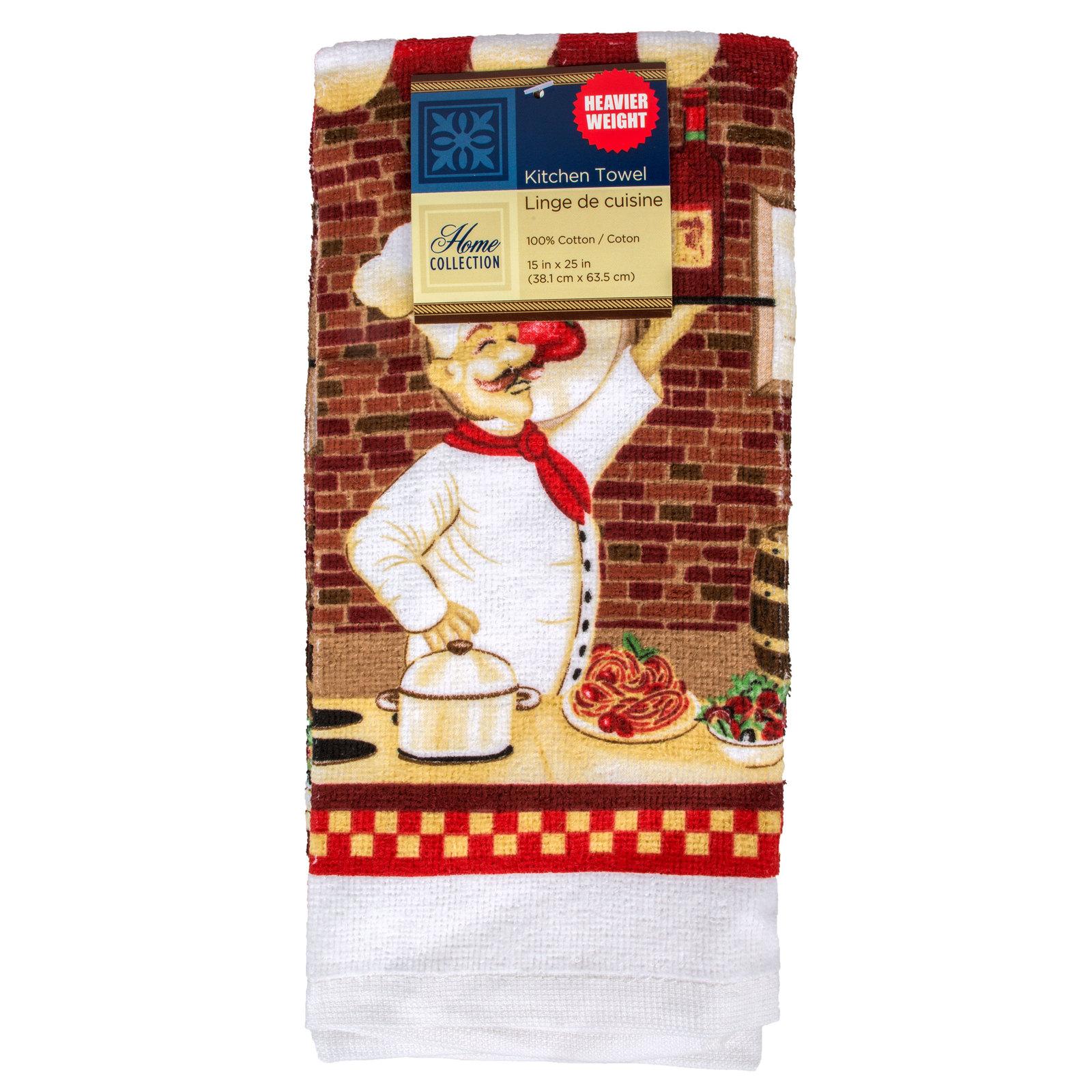 RED WINE FAT CHEF KITCHEN LINEN SET 10pc Placemats Towels Potholders Cloths NEW