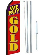 We Buy Gold Swooper Flag With Complete Hybrid Pole set - $48.50
