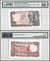Spain 100 Pesetas, 1970 (ND 1974), P-152a, UNC, M. de Falla, PMG 66 EPQ - $19.99