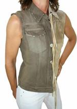 Dolce & Gabbana Damen Jacket Vest Fringe Tassel Distressed Denim 38 NWT - $109.99
