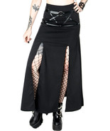 Restyle Villain Harness Gothic Occult Punk Steampunk Emo Side Slit Maxi ... - £57.87 GBP