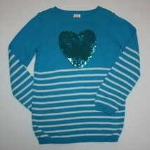 Gymboree Fancy Dalmatian Sequin Heart Stripe Sweater size 5 6 - $12.99
