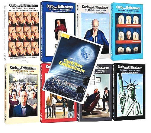 CURB YOUR ENTHUSIASM Complete Series Seasons 1-9 DVD Sets [New]