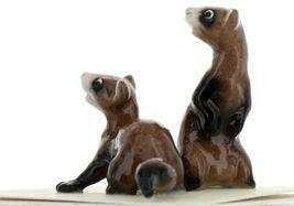 Hagen Renaker Wildlife Ferret Friends Ceramic Figurine Set image 5
