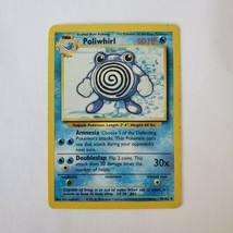 Pokemon Base Set 1999 Poliwhirl Card MP 38/102 TCG Trading Card Game Unlimited - $0.99
