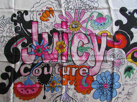 Juicy Couture Scarf Watercolor Flower Power Boho $68 - $37.62
