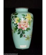 Japanese Cloisonne Vase Silver Wire Artist SIGNED Antique Vintage - $980.09