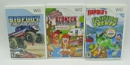 Wii Game Lot Redneck Jamboree Rapala's Fishing Frenzy Bigfoot Collision ... - $19.79