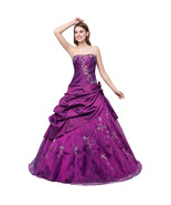 New Arrival Purple Prom Dress Ruffle Wedding Party Gowns Women Formal Dr... - $95.00
