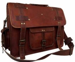 """New 15"""" Genuine Vintage Rustic Leather Messenger Shoulder Briefcase Lapt... - $86.25"""