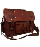 "New 15"" Genuine Vintage Rustic Leather Messenger Shoulder Briefcase Lapt... - $86.25"