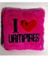 "I love Vampires - Hot Pink Peek-A-Boo Plush Pillow 12"" x 12"" and 3"" thic... - $14.99"